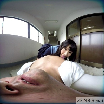 japan vr schoolgirl licks your nipples