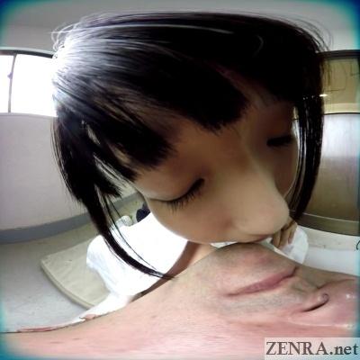 japanese vr schoolgirl kissing