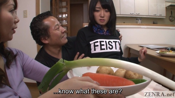 vegetables offered to japanese teen