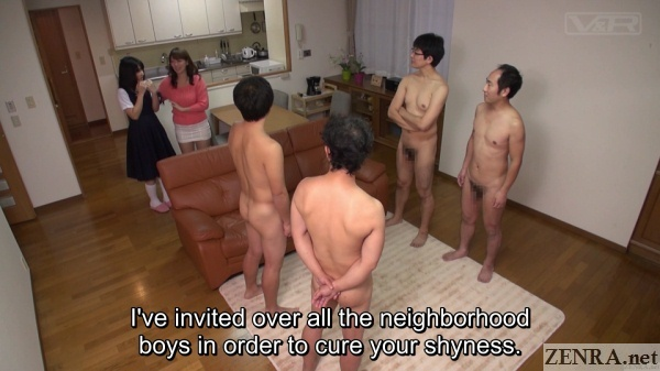 stark naked japanese men assemble for schoolgirl