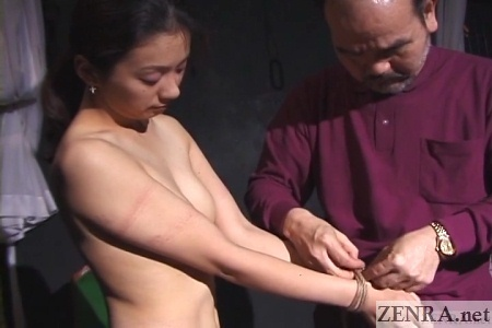 cmnf topless woman bound