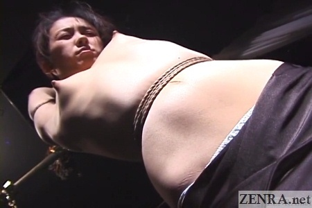 erect nipples on bound japanese woman