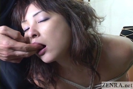 bound and licking voluptuous japanese woman