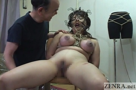 japanese cmnf extreme bdsm rope binding event