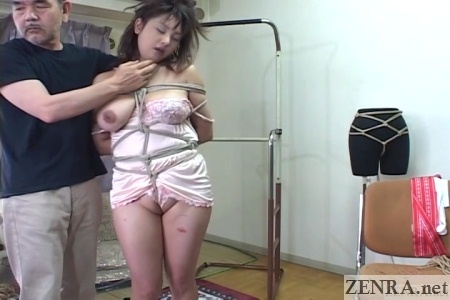 shaved curvy and bound japanese woman