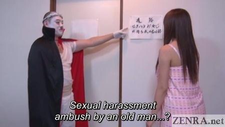 bald japanese dracula man weird game