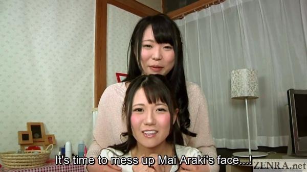 time to mess up mai araki face