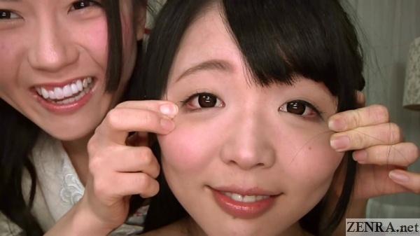 naturally calm downward eyes yui kawagoe