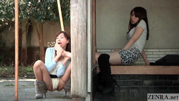 split view lesbian foot worship japan