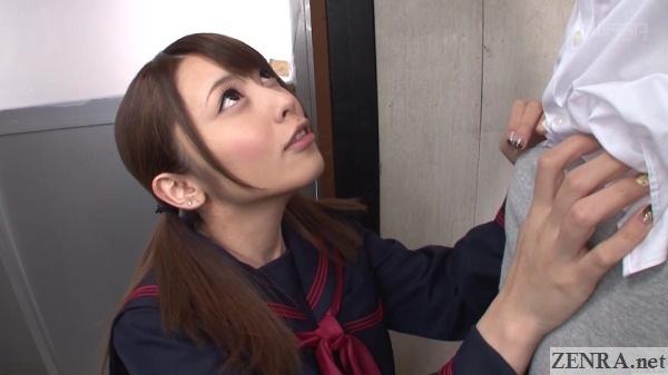 ayu sakurai schoolgirl about to strip classmate