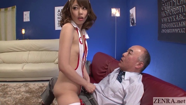 japanese pink salon girl going extra mile
