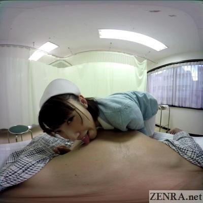pov vr japanese nurse licks nipples