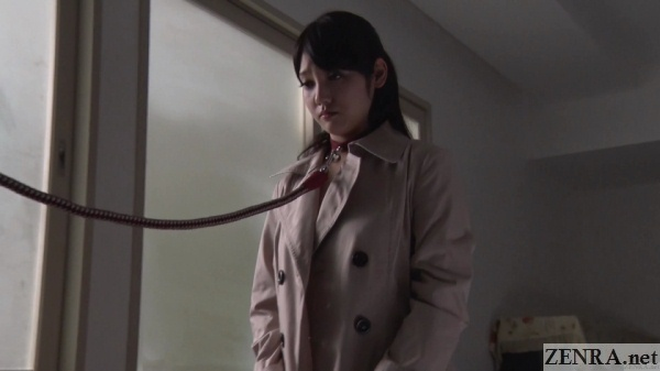 mizuna rei demure on a leash