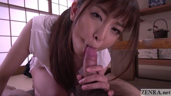 uncensored maki kogure mouth around your erection