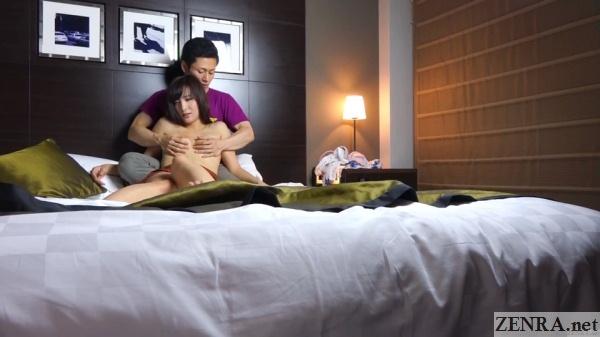 self shot japanese love hotel foreplay