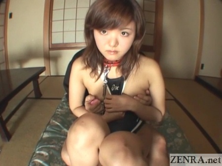 japanese teen in swimsuit breasts fondled