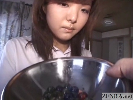 marbles handed to japanese school
