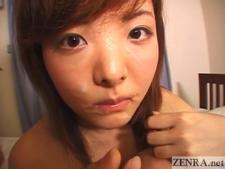 kuraki non with semen on face