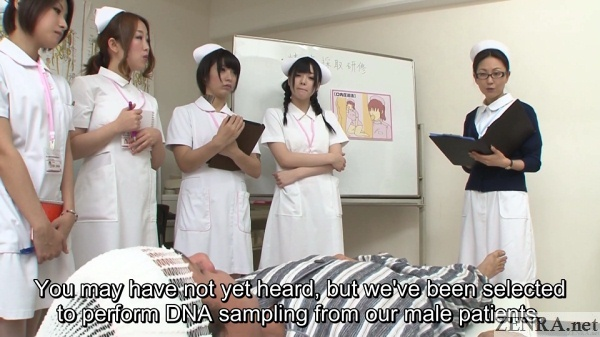 japanese nurses assemble for patient training