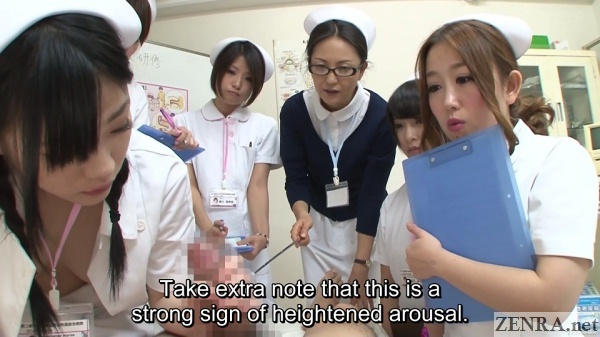 cfnm group of nurses in japan watch handjob