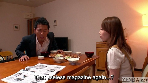 salaryman husband criticizes magazine