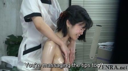 confused lesbian nipple massage japan