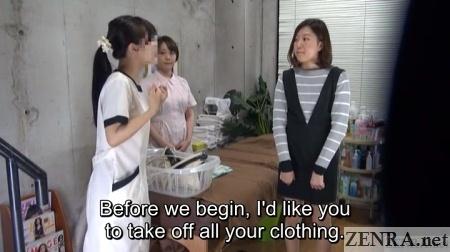 trainee day at aoyama lesbian massage clinic