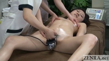 spread cfnf japanese erotic massage with two therapists