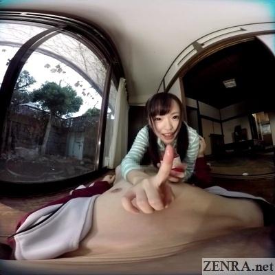vr japanese schoolgirl finger full of strawberry jam