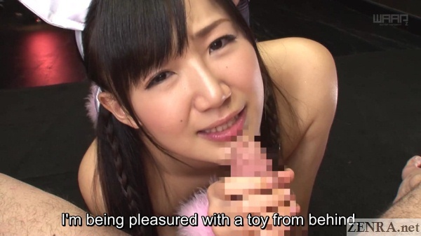 blowjob by maki hoshikawa teasing from behind