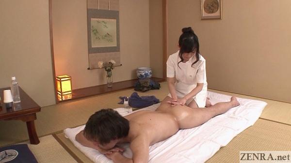 cfnm prone japanese massage