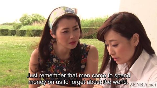 maki hojo and yuu kawakami talk of prostitution by the river