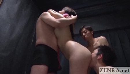 mana makihara deep kissing up top rimjob below