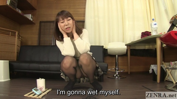 japanese amateur tries not to wet herself