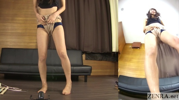 cute japanese amateur pee desperation failure