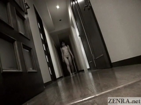 naked japanes teen walking down hallway