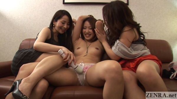 massager used on exposed japanese amateur