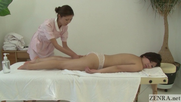 prone japanese oil massage