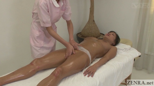 japanese cfnf groin massage for oiled up client