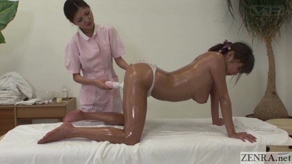vibrator for on all fours oiled up client