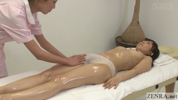 topless oiled up japanese massage clinic