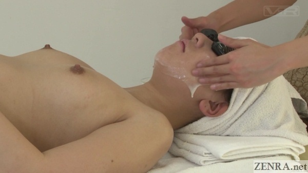 weird japanese semen facial massage