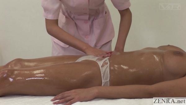 cfnf supine japanese oil massage for gyaru