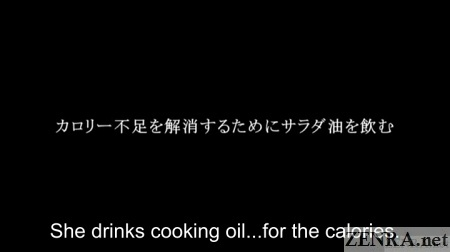 yuuko homeless japanese av star drinks cooking oil