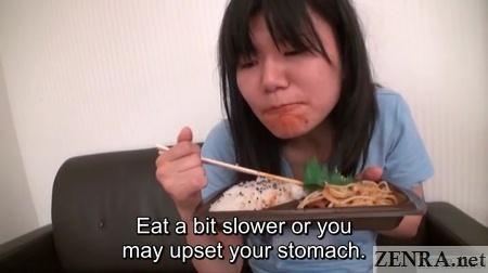 eating from bento yuuko