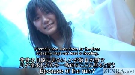 real homeless japanese woman