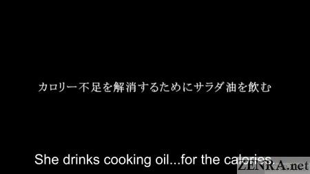 yuuko homeless japanese av star drinks cooking oil