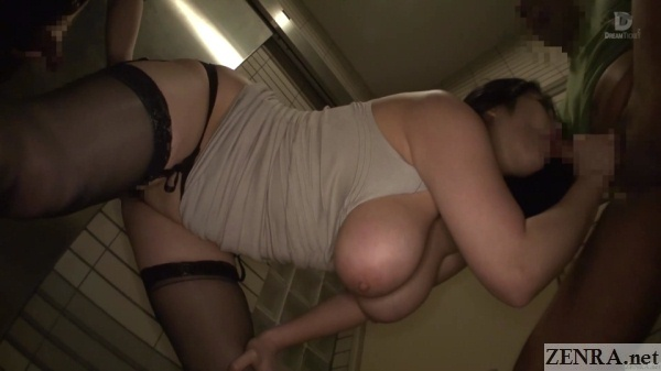 big breasts popping out blowjob by minako komukai