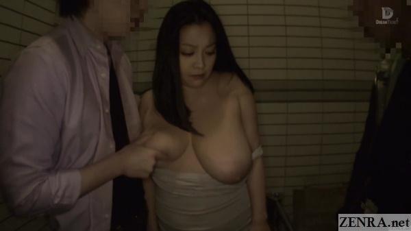 exposed minako komukai in public restroom