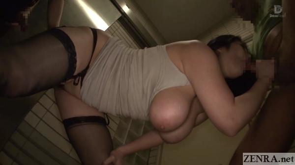 big breasts popping out blowjob by minako komukai